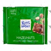 Ritter Sport Milk Chocolate with Chopped Hazelnuts 100g