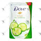 Dove Bodywash Refill 650g Go Fresh Aqua Green