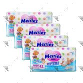 Merries Premium Tape Diapers Newborn 42s (1Carton=4Pack)