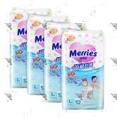 Merries Premium Tape Diapers Large 52s (4Packs)