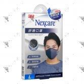 Nexcare 3m Comfort Mask Men L-Size Grey 1s 8550+