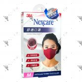 Nexcare 3m Comfort Mask Women M-Size Red 1s 8550+