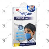 Nexcare 3m Comfort Mask Kids XS-Size Blue 1s 8550+