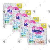 Merries Japan Tape Diapers Small 82s (1Carton=4pack)