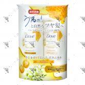 Dove Hair Botanical Shampoo 400ml + Conditioner 400ml Natural Shine
