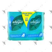 Whisper Heavy Flow and Overnight Wings Sanitary Pad 32s