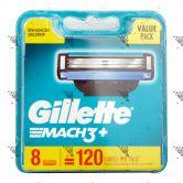 Gillette Mach 3+ Dispenser 8s
