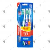 Oral-B All Rounder 123 Clean Toothbrush - Soft (2+1pc)