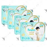 Pampers Premium Care Silky Pants Large 34s (1Carton=4Pack)