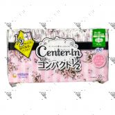 Center-In Compact 1/2 Day Wings Scented 21.5cm 22s
