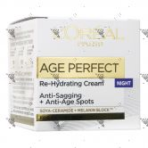 L'Oreal Age Perfect Re-Hydrating Cream 50ml Night