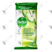 Dettol Anti Bacterial Multipurpose Cleansing Wipes 30s Green Apple
