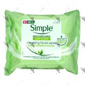 Simple Cleansing Face Wipes 25s
