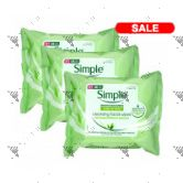 Simple Cleansing Face Wipes 25s (3pack)