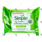 Simple Kind To Skin Exfoliating Face Wipes 25s