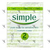 Simple Pure Soap 125gm x2