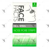 Face Facts Oil Control Nose Pore Strips 6s with Green Tea Extract