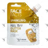 Face Facts Peel Off Glitter Mask Pouch 60ml Sparkling