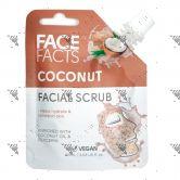 Face Facts Facial Scrub Pouch 60ml Coconut