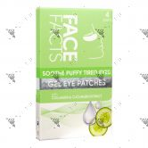 Face Facts Soothe Puffy Tired Eyes Gel Eye Patches 4 Pairs