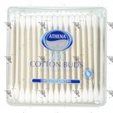 Athena Cotton Buds w/ Paper Stem 200s Square Tub