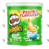 Pringles Potato Chips 40g Sour Cream & Onion