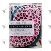 Tangle Teezer Detangling Hairbrush Compact Pink Kitty-Smooth & Shine