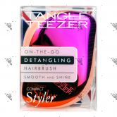 Tangle Teezer Detangling Hairbrush Compact Pink Peach-Smooth & Shine