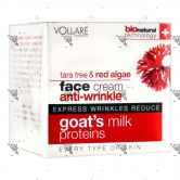 Vollare Goat Milk Face Cream Anti-Wrinkle Tara Tree and Red Algae