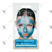 Bielenda Blue Detox Moisturizing Metallic Face mask 8g