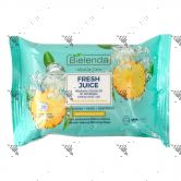 Bielenda Fresh Juice Micellar Make-Up Removing Wipe 20s Pineapple