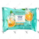 Bielenda Fresh Juice Micellar Make-Up Removing Wipe 20s Orange