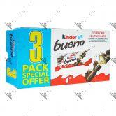 Kinder Milk & Hazelnut Twin Bars 1Box (10packs of 3 x Twin Bars)