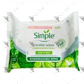 Simple Kind To Skin Micellar Cleansing Wipes 20s