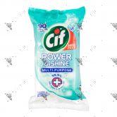 CIF Power & Shine Multi-Purpose Wipes 90s