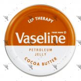 Vaseline Lip Therapy Petroleum Jelly Cocoa Butter Brown 20g