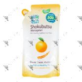 Shokubutsu Shower Cream 500ml Refill Orange Peel Oil