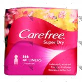 Carefree Super Dry Unscented 40s