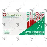 General Care Latex Powdered Examination Gloves 100s