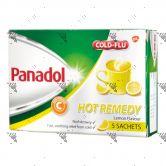 Panadol Cold+Flu Hot Remedy 5 Sachets Lemon
