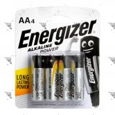 Energizer Power Battery AA 4s