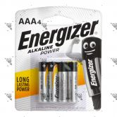 Energizer Power Battery AAA 4s