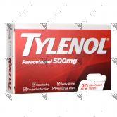 Tylenol Paracetamol 500mg 20 Film-Coated Tablets