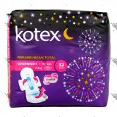 Kotex Soft and Smooth Overnight Wing 32cm 9S