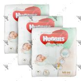 Huggies Platinum Diapers Newborn 66S (x3Packs)