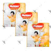 Huggies Gold Diapers Large 62S (1Carton=3pack)