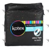 Kotex Ultrathins Regular No Wings 14s