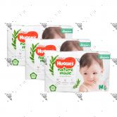 Huggies Platinum Nature Made Diapers M 64s (1Carton=3packs)