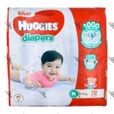 Huggies Silver Diapers Medium 72S (1Carton=3pack)