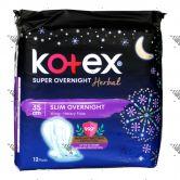 Kotex Super Slim Overnight Wing Heavy Flow 35cm 12s
